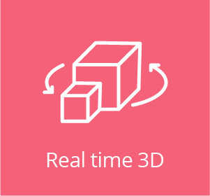 Real time 3d logo